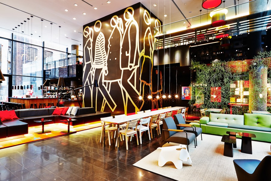 Citizenm hotel new york times square e architect for New york times interior design