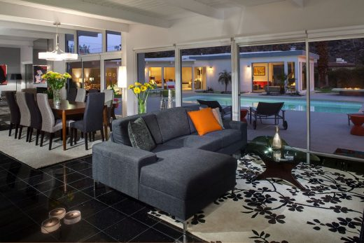 Martini House in Palm Springs living dining interior