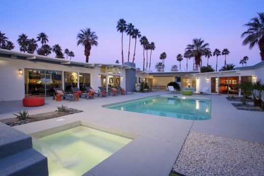 Martini House in Palm Springs pool deck landscape