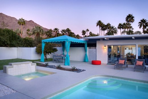 Martini House in Palm Springs swimming pool area