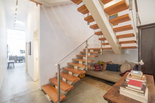 New Vancouver town house British Columbia stairs
