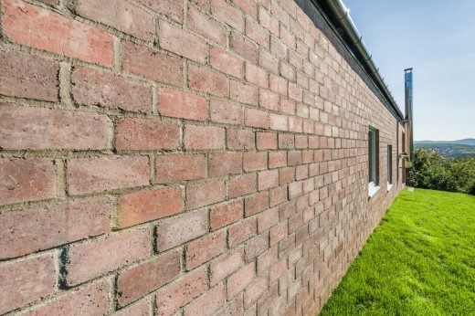 House in Hungary brick wall
