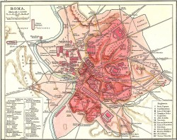 Old map of Rome courtesy Wikipedia.