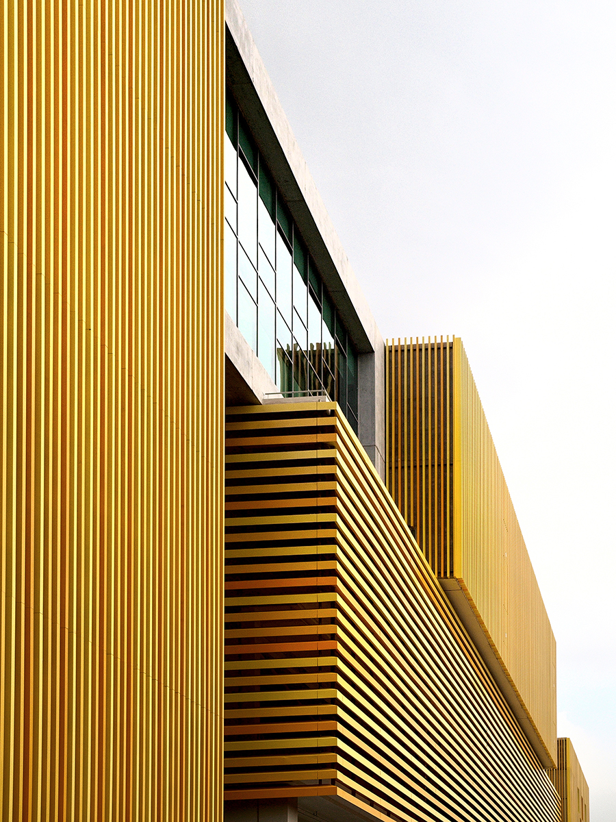Louvred facade of Sunray Woodcraft Construction Headquarters