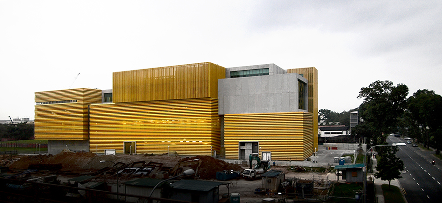 East Elevation of Sunray Woodcraft Construction Headquarters, a light industrial factory with stacked production processes in Singapore