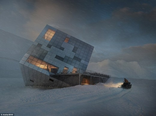 Cuboidal Mountain Hut