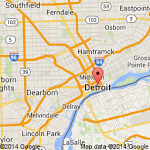 This Google map shows Detroit's within the Great Lakes area.