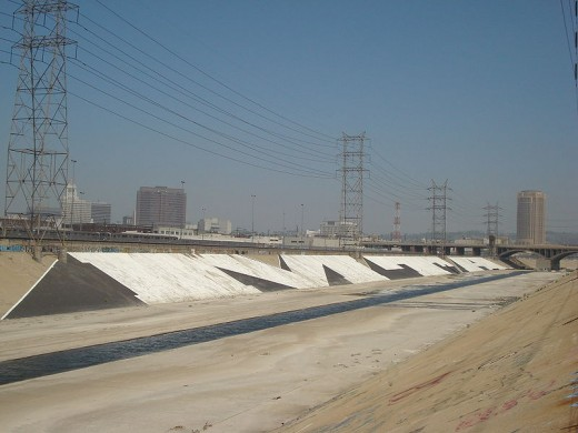 Los Angeles River channel