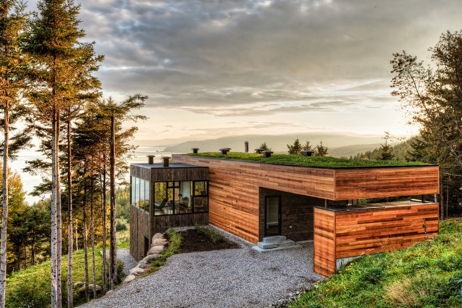 Malbaie v house in quebec e architect for Architecture quebec