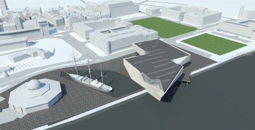 V&A at Dundee waterfront design