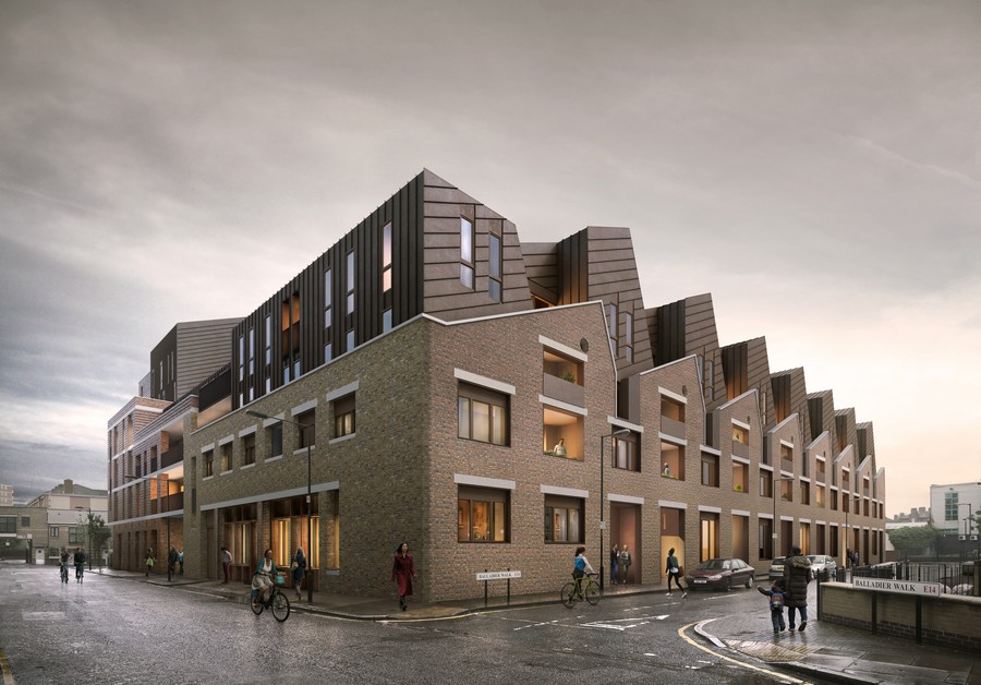 Barchester street housing e architect for Affordable furniture london uk