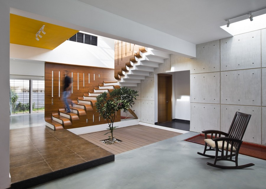 Courtyard house bangalore e architect for Architecture design house in india