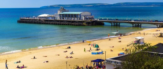Bournemouth waterfront beach pavilion