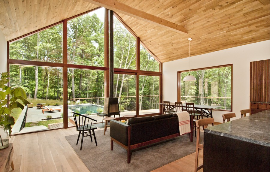 Hudson Woods House In Catskills Forest E Architect