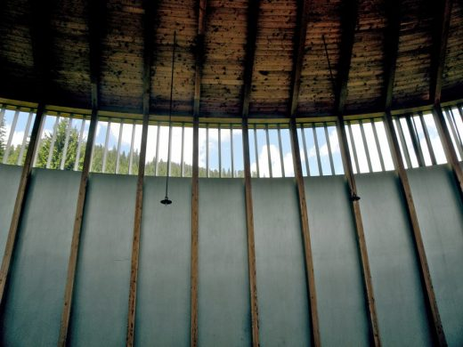 St Benedikt Chapel Switzerland by architect Peter Zumthor