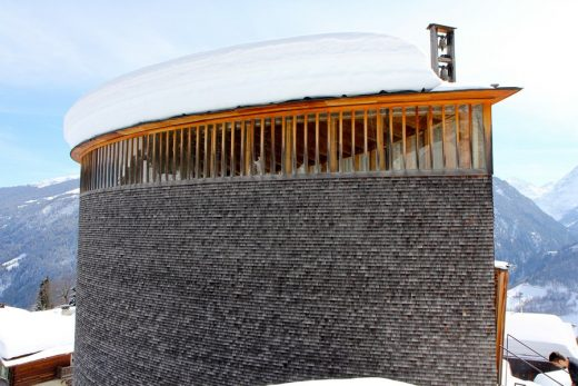 St Benedikt Chapel Building in Switzerland by Peter Zumthor