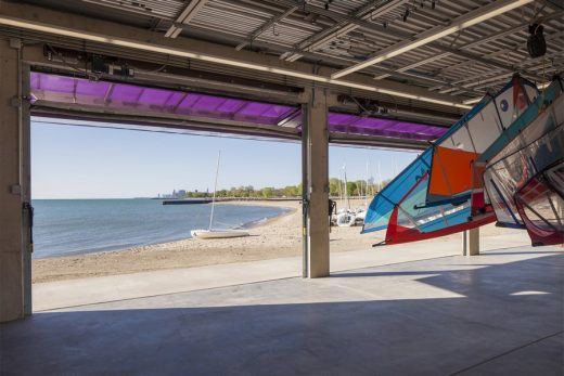 Sailing Center on Lake Michigan