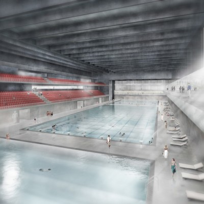 Lausanne Ice Sports Center Building by Mauro Turin Architects