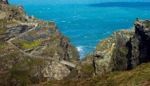 Tintagel Castle in Cornwall