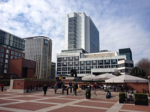British Library courtyard