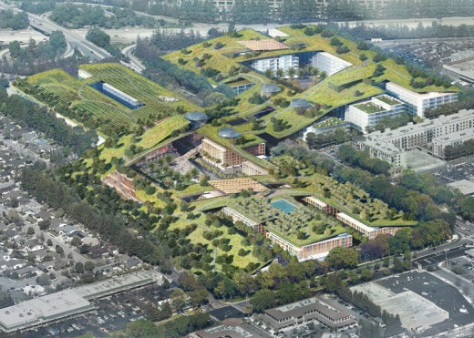 Silicon Valley green roof by Rafael Vinoly