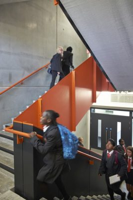 Burntwood School Wandsworth building stairs