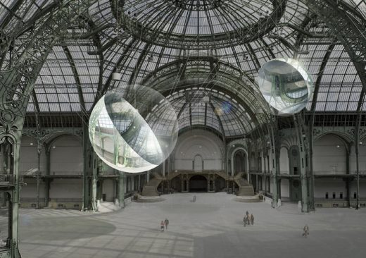 Aerocene sculptural installation at Grand Palais, Solutions COP21, Paris