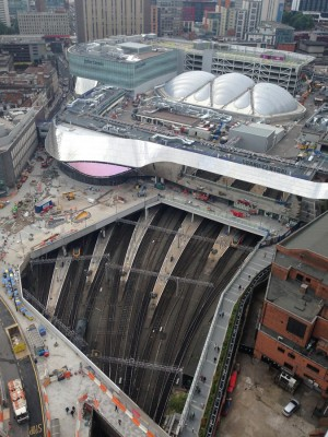 Birmingham New Street Station from above