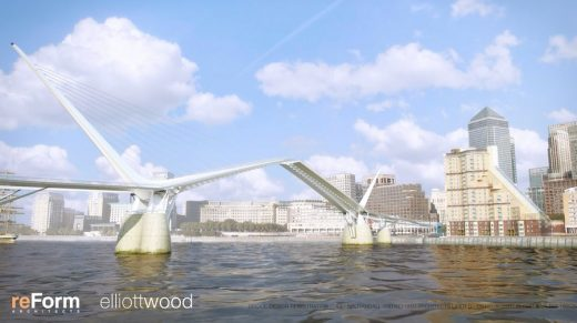 new bridge across the River Thames between Canary Wharf and Rotherhithe
