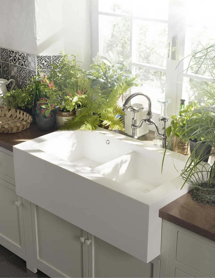 how to clean corian sink