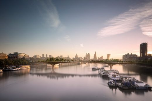 Garden Bridge across the River Thames