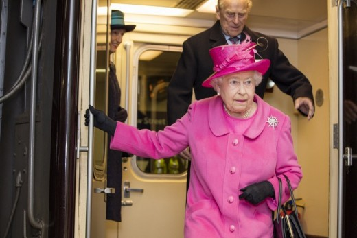 Her Majesty The Queen at Birmingham New Street Station