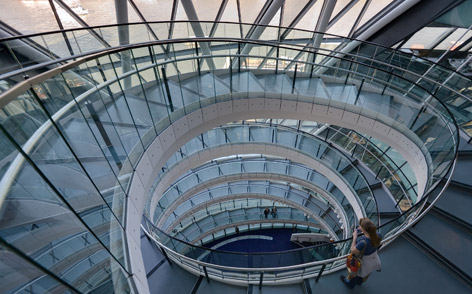 London City Hall stairs Spectre film location