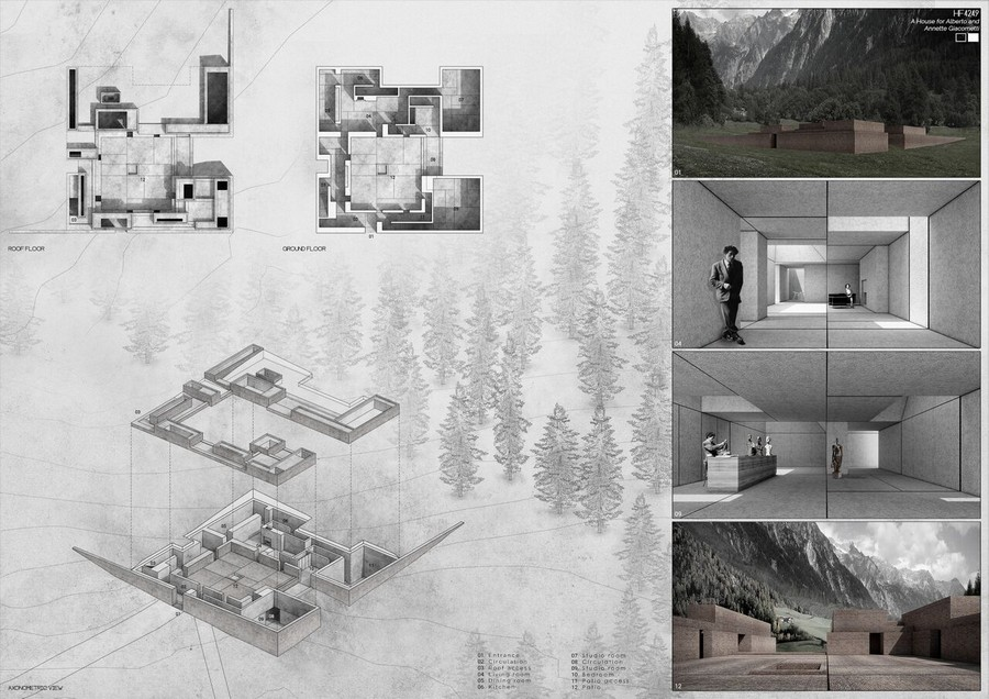 home design contest. 2015 A HOUSE FOR  Ideas Competition 3rd prize Opengap INNATUR 5 Design Contest e architect