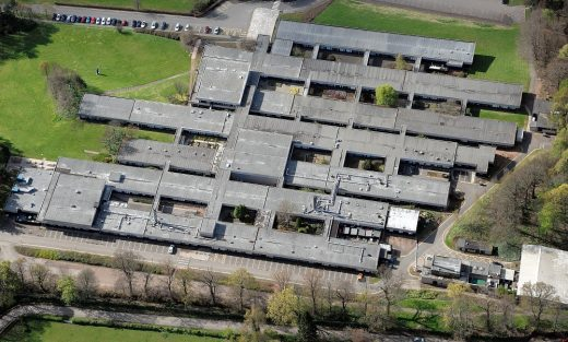 Pathfoot Building at University of Stirling aerial