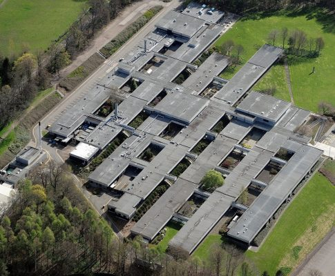 Pathfoot Building at Stirling University aerial image