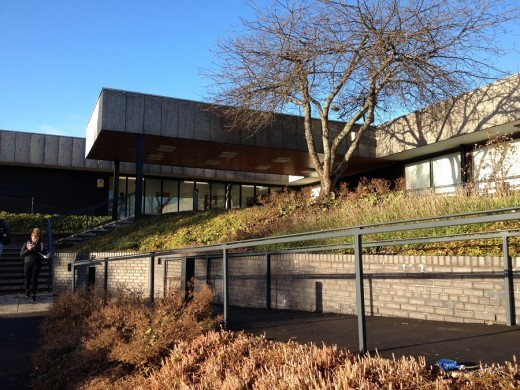 Pathfoot Building at University of Stirling entrance