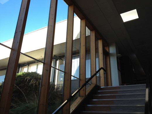 Pathfoot Building at University of Stirling stair screen