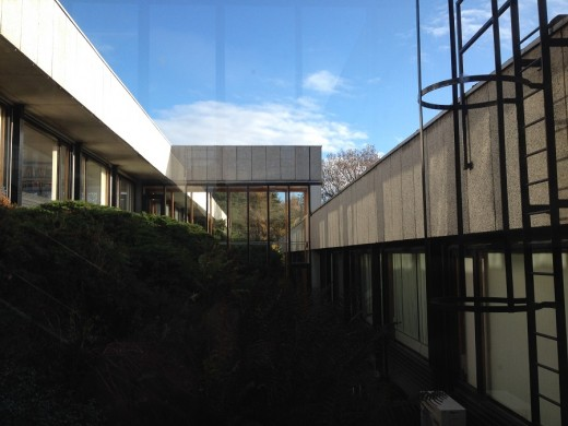 Pathfoot Building at University of Stirling stair window