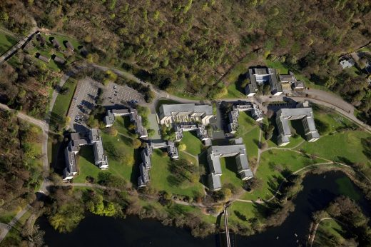 Stirling University buildings aerial image