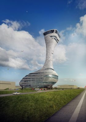 Istanbul Airport Traffic Control Tower Building