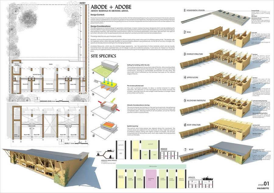 Mud house design competition winner a1 e architect for Architecture house design competitions