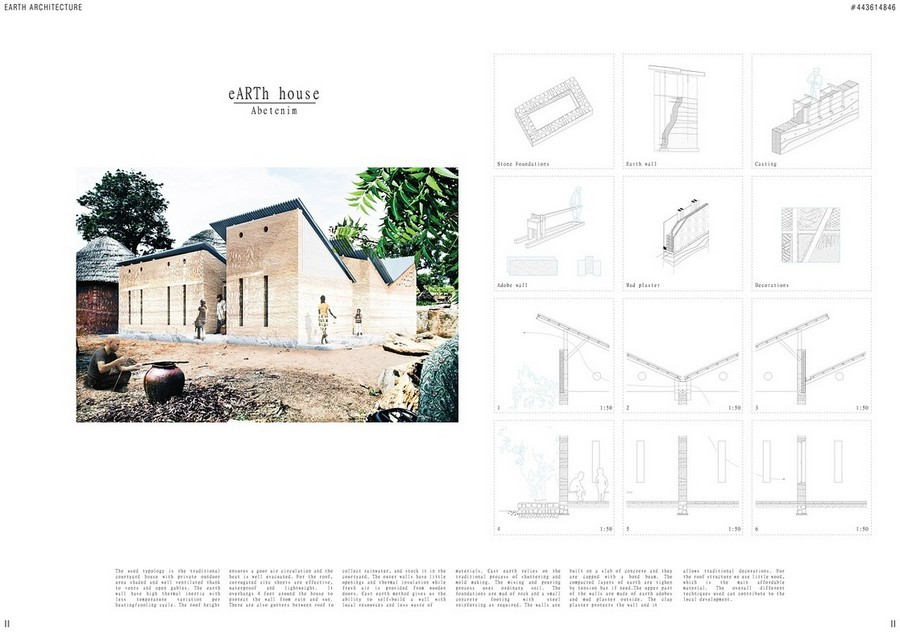 Mud house design competition 2nd prize b3 e architect for Architecture house design competitions