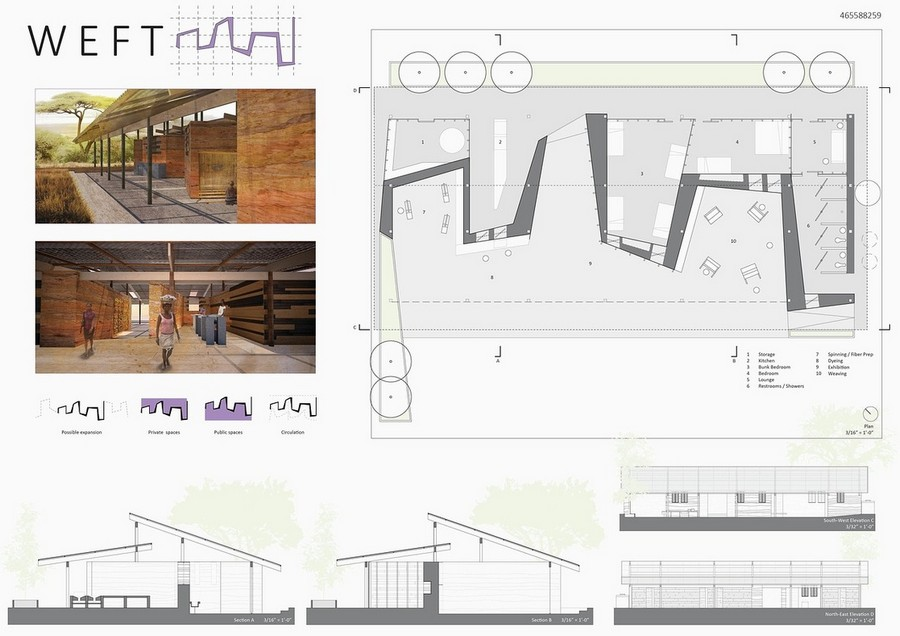 Mud house design competition 3rd prize c3 e architect for Architecture house design competitions