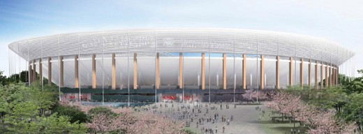 Sports Arena Building Japan design by Kengo Kuma and by Toyo Ito, Architects