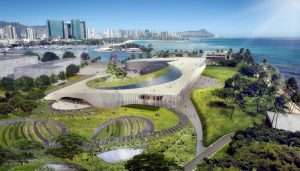 Obama Presidential Center Building in Hawaii by Snøhetta and WCIT
