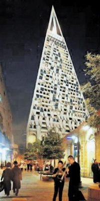 The Pyramid Tower in Jerusalem by Libeskind
