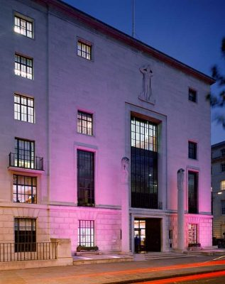 RIBA Building London by evening