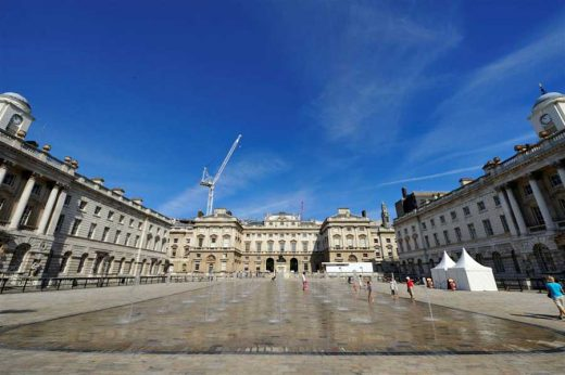 Somerset House London courtyard
