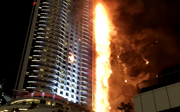 The address dubai building fire e architect for Nearest hotel to dubai design district
